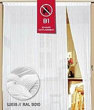 Fadenvorhang 200 cm x 200 cm weiß in B1 schwer