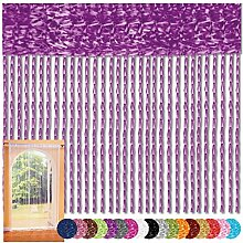 Fadenvorhang 90x240 Fadengardine Insektenschutz Raumteiler Auswahl: Lila - Lavendel