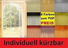Fadenvorhang Fadengardine ca. 90x240 cm Insektenschutz Raumteiler Türvorhang (Rot)