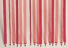 Fadenvorhang rot mit weissen Punkte Vorhang Tuervorhang 1812-20547
