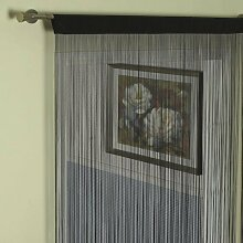 Fadenvorhang schwarz 140x250cm