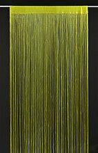 Fadenvorhang Selene 240x90 cm H/B | Farbe: grün | Fadengardine Fadenstore Raumteiler Insektenschutz