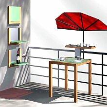 Fächer Balkonschirm für Geländer rund oder
