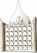 Fafalloagrron Holz MDF Muslim Eid Mubarak Schild