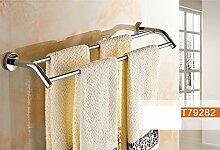 FAFZ Alle Copper Eindickung Badezimmer Handtuchhalter Doppel Rod Racks Badezimmer-Metallanhänger ( farbe : 3# )