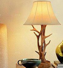 FAFZ Amerikanische rustikale Geweih Tischlampe, europäischen Stil Wohnzimmer Schreibtisch Lampe, Studie Schlafzimmer Nachttischlampe