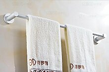 FAFZ-Badetuch Regal Aluminium Handtuchhalter Badezimmer doppelpoligen Handtuchhalter perforierten einzigen Stab Handtuchhalter Multifunktions-Handtuchhalter ( Farbe : B , größe : 50 cm )
