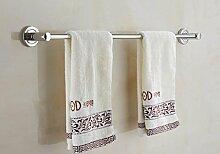 FAFZ-Badetuch Regal Edelstahl Handtuchhalter Bad Bad Handtuch Bar Badezimmer Zubehör Multifunktions-Handtuchhalter ( größe : 50 cm )