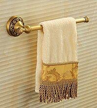 FAFZ-Badetuch Regal Europäische Bad Bad Handtuchhalter / antike schwarz voll Kupfer Handtuchhalter Handtuch Bar / Bad Hardware Anhänger Multifunktions-Handtuchhalter ( Farbe : A , größe : L315*H64MM )