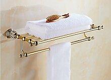 FAFZ-Badetuch Regal Europäische Handtuchhalter / Bad Zubehör Gold Bad Handtuchhalter / Bad Racks Multifunktions-Handtuchhalter