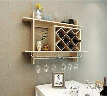 FAFZ-Champagner-Becherhalter, Weinregal Wein-Gestell, einfaches europäisches Wand-Wein-Gestell-hängendes Wein-Gestell, Wein-Gestell, kreatives Wand-Regal, Wein-Gestell Weinregale ( Farbe : C , größe : L80*H58.5*W20CM )