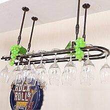 FAFZ-Champagner-Becherhalter, Weinregal Wein Glashalter,Wein Glas Rack, Weinglas Hanger, Stemware Rack,Weinglas Rack Stemware Weinregale ( Farbe : Bronze , größe : 100*25cm )