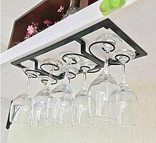 FAFZ-Champagner-Becherhalter, Weinregal Weinglas-Rack, Regal-Wein-Glas-Halter, Weinglas-Rack, Weinglas-Rack, Champagner-Glas-Rack, Glaswaren-Rack Weinregale ( Farbe : B , größe : L44*W19CM )