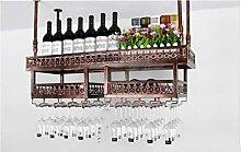 FAFZ-Champagner-Becherhalter, Weinregal Weinglas-Rack, Regal-Wein-Glas-Halter, Weinglas-Rack, Weinglas-Rack, Champagner-Glas-Rack, Glaswaren-Rack Weinregale ( Farbe : A , größe : L120*w31cm )