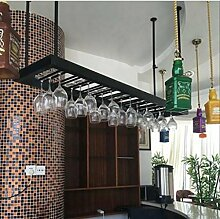 FAFZ-Champagner-Becherhalter, Weinregal Weinglas-Rack, Regal-Wein-Glas-Halter, Weinglas-Rack, Weinglas-Rack, Champagner-Glas-Rack, Glaswaren-Rack Weinregale ( Farbe : Schwarz , größe : L120*w35cm )