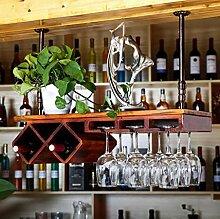 FAFZ-Champagner-Becherhalter, Weinregal Weinglas-Rack, Regal-Wein-Glas-Halter, Weinglas-Rack, Weinglas-Rack, Champagner-Glas-Rack, Glaswaren-Rack Weinregale ( Farbe : 2* , größe : L80*W28cm )