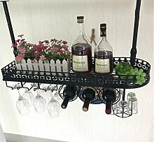 FAFZ-Champagner-Becherhalter, Weinregal Weinglas-Rack, Regal-Wein-Glas-Halter, Weinglas-Rack, Weinglas-Rack, Champagner-Glas-Rack, Glaswaren-Rack Weinregale ( Farbe : A , größe : L80*W25cm )