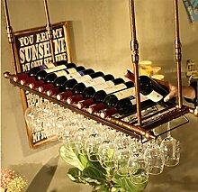 FAFZ-Champagner-Becherhalter, Weinregal Weinglas-Rack, Regal-Wein-Glas-Halter, Weinglas-Rack, Weinglas-Rack, Champagner-Glas-Rack, Glaswaren-Rack Weinregale ( Farbe : A , größe : L100*w30cm )