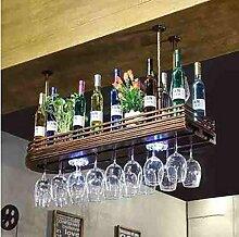 FAFZ-Champagner-Becherhalter, Weinregal Weinglas-Rack, Regal-Wein-Glas-Halter, Weinglas-Rack, Weinglas-Rack, Champagner-Glas-Rack, Glaswaren-Rack Weinregale ( größe : L80cm*W27cm )