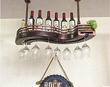 FAFZ-Champagner-Becherhalter, Weinregal Weinglas-Rack, Regal-Wein-Glas-Halter, Weinglas-Rack, Weinglas-Rack, Champagner-Glas-Rack, Glaswaren-Rack Weinregale ( größe : L60*W32cm )