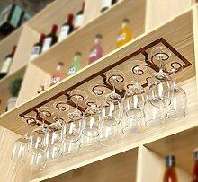 FAFZ-Champagner-Becherhalter, Weinregal Weinglas-Rack, Regal-Wein-Glas-Halter, Weinglas-Rack, Weinglas-Rack, Champagner-Glas-Rack, Glaswaren-Rack Weinregale ( Farbe : B , größe : L88*W19*H6CM )