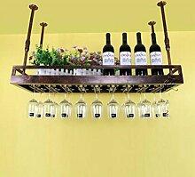FAFZ-Champagner-Becherhalter, Weinregal Weinglas-Rack, Regal-Wein-Glas-Halter, Weinglas-Rack, Weinglas-Rack, Champagner-Glas-Rack, Glaswaren-Rack Weinregale ( Farbe : Bronze , größe : L120*w35cm )