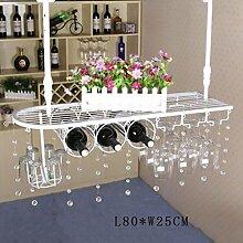 FAFZ-Champagner-Becherhalter, Weinregal Weinglas-Rack, Regal-Wein-Glas-Halter, Weinglas-Rack, Weinglas-Rack, Champagner-Glas-Rack, Glaswaren-Rack Weinregale ( größe : L80*W25CM )