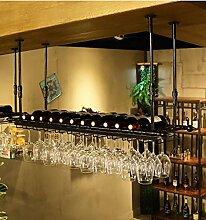 FAFZ-Champagner-Becherhalter, Weinregal Weinglas-Rack, Regal-Wein-Glas-Halter, Weinglas-Rack, Weinglas-Rack, Champagner-Glas-Rack, Glaswaren-Rack Weinregale ( Farbe : B , größe : L100*w30cm )