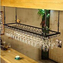 FAFZ-Champagner-Becherhalter, Weinregal Weinglas-Rack, Regal-Wein-Glas-Halter, Weinglas-Rack, Weinglas-Rack, Champagner-Glas-Rack, Glaswaren-Rack Weinregale ( größe : L90*w35cm )