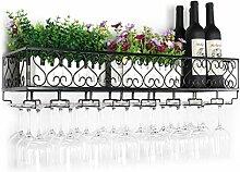 FAFZ-Champagner-Becherhalter, Weinregal Weinglas-Rack, Regal-Wein-Glas-Halter, Weinglas-Rack, Weinglas-Rack, Champagner-Glas-Rack, Glaswaren-Rack Weinregale ( Farbe : A , größe : L60*w25cm )
