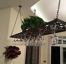 FAFZ-Champagner-Becherhalter, Weinregal Weinglas-Rack, Regal-Wein-Glas-Halter, Weinglas-Rack, Weinglas-Rack, Champagner-Glas-Rack, Glaswaren-Rack Weinregale ( Farbe : Bronze , größe : L80cm*w31cm )