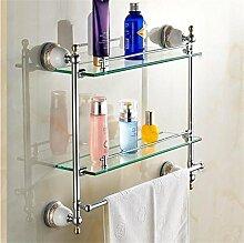 FAFZ Doppelhandtuchhalter, im europäischen Stil Bad-Accessoires, Badezimmer Glasregal ( farbe : 4# )