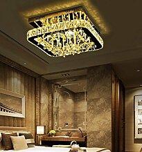 FAFZ Europäische Restaurant Decke, quadratische Decke, Luxus Kristall Lampe moderne Schlafzimmer Lampe, einfache moderne Wohnzimmer Lichter ( größe : 30cm )