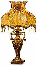FAFZ European Style Study Schreibtisch Lampe, American Retro Wohnzimmer Tischlampe, kreative einfache Schlafzimmer Lampe ( Farbe : C-05 large )