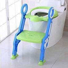 FAFZ Faltende Kinder Toilettenleiter, Männer und Frauen Baby Toilette Kinder WC Hocker, Kinder WC Sitz Sitzring (Toilette Falten Leiter) ( Farbe : 4* )
