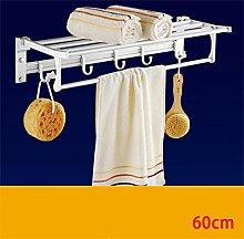 FAFZ Handtuchhalter, Handtuchhalter Raum Aluminium, Badezimmer Folding Handtuchhalter, Bad-Accessoires ( farbe : 3# )