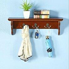 FAFZ-Kleiderhaken Amerikanische Wand Regal / Wohnzimmer Regal Küche Regal / Wand Hängende Rack / Creative Schlafzimmer Kleiderbügel Hook Up Bekleidungsregale ( Farbe : A , größe : L60*w13*h20cm )