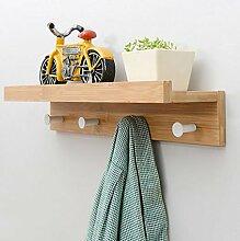 FAFZ-Kleiderhaken Creative Coat Racks Wand Hanging European Style Kleiderbügel Wand Kleider Haken Wohnzimmer Regal Hook Up Bekleidungsregale ( Farbe : A , größe : L48.5*w12*h8cm )
