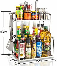FAFZ-Küchenregale Edelstahl Gewürz Regal, Küche Racks, Gewürz Küche Supplies Gewürzregal ( Farbe : 3# )