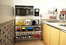 FAFZ-Küchenregale Edelstahl-Küche-Zahnstange, Mikrowellen-Regal, Küche-Speicher-Zahnstange Gewürzregal ( Farbe : 13# )