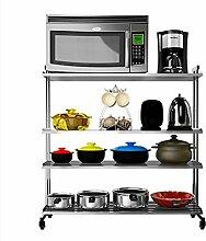 FAFZ-Küchenregale Edelstahl-Küche-Zahnstange, Mikrowellen-Regal, Küche-Speicher-Zahnstange Gewürzregal ( Farbe : 9# )