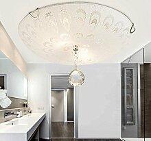 FAFZ LED Deckenleuchte / Modern Einfache Runde Glas Kristall Licht / Wohnzimmer Zimmer Balkon Schlafzimmer Lampe ( größe : 10w40cm )