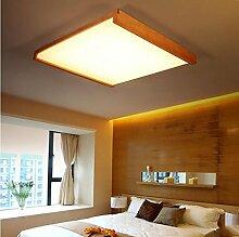 FAFZ Massivholz Wohnzimmer Lampe Schlafzimmer Restaurant Atmospheric Creative LED Deckenleuchten ( größe : L63X81CM )