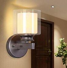FAFZ Moderne Schlafzimmerwand-Lampe, moderne minimalistische Wohnzimmer-Wand-Lampe, Europäische Art-Korridor-kreative Beleuchtung