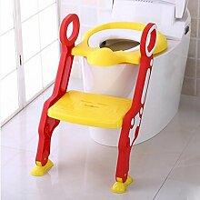 FAFZ Nette Baby-Toilette Leiter, Mädchen und Junge Toilette Leiter Schulung Stuhl, WC-Becken ( Farbe : 2* )
