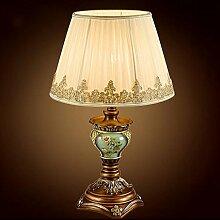 FAFZ Schlafzimmer Bedside Art dekorative Tischlampe, Schreibtisch Schreibtisch Lampe, europäischen Stil Retro Wohnzimmer Schlafzimmer Nachttischlampe Tischleuchte