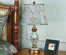 FAFZ Schlafzimmer Bedside Art dekorative Tischlampe, Schreibtischlampe, stilvolle Wohnzimmer Studie Lampe Tischleuchte ( Farbe : Dimm-Schalter )