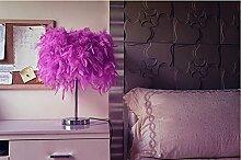 FAFZ Schlafzimmer Tischlampe warmes Licht, moderne einfache Schreibtischlampe, europäische Lampe Tischleuchte ( größe : S-Pushbutton Switch )