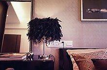 FAFZ Schlafzimmer Tischlampe warmes Licht, moderne einfache Schreibtischlampe, europäische Lampe Tischleuchte ( größe : S-Dimm-Schalter )
