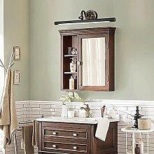 FAFZ Spiegel vorne Lichter, Bronze Spiegel Scheinwerfer, Retro europäischen Spiegel, Badezimmer Spiegel Schrank Lichter, wasserdichte LED Make-up Lichter Kupfer ( größe : 9W43cm )